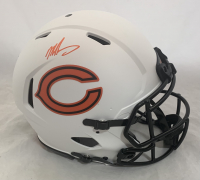 Mike Singletary Signed Bears Full-Size Authentic On-Field Lunar Eclipse Alternate Speed Helmet (Beckett Hologram) at PristineAuction.com
