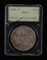 1880-S Morgan Silver Dollar (PCGS MS63) (See Description) at PristineAuction.com