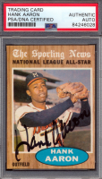 Hank Aaron Signed 1962 Topps #394 All-Star (PSA Encapsulated) at PristineAuction.com