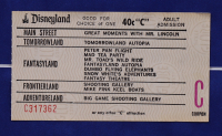 "Disneyland Tomorrowland's ""Autopia"" 15x26 Custom Framed Print Display with Vintage 1960's Autopia Ticket & Vintage Autopia Souvenir Resin Car at PristineAuction.com"