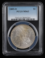 1885-O Morgan Silver Dollar (PCGS MS63) (Toned) at PristineAuction.com