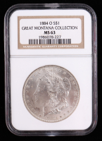 1884-O Morgan Silver Dollar - Great Montana Collection (NGC MS63) at PristineAuction.com