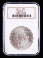1884-O Morgan Silver Dollar (NGC MS65) at PristineAuction.com
