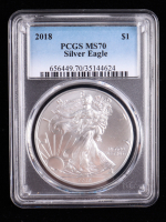 2018 American Silver Eagle $1 One Dollar Coin (PCGS MS70) at PristineAuction.com