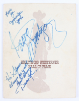 """""""Hollywood Westerner Hall Of Fame"""" Program Signed by (12) with Jennifer Jones, George Montgomery, Dinah Shore, Eddie Dean, Charlton Heston, Ann Rutherford, Rand Brooks with Multiple Inscriptions (Beckett LOA) (See Description) at PristineAuction.com"""