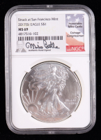 2017-(S) American Silver Eagle $1 One Dollar Coin Silver Eagle - Struck at San Francisco Mint, Mike Castle Signed Label (NGC MS69) at PristineAuction.com