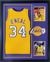 Shaquille O'Neal Signed 34x42 Custom Framed Jersey (JSA COA) at PristineAuction.com