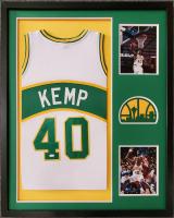 Shawn Kemp Signed 34x42 Custom Framed Jersey (JSA COA) at PristineAuction.com