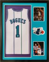 Muggsy Bogues Signed 34x42 Custom Framed Jersey (JSA COA) at PristineAuction.com
