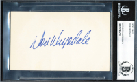 """Don Drysdale Signed 3"""" x 5"""" Index Card (BGS Encapsulated) at PristineAuction.com"""