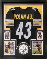 Troy Polamalu Signed 34x42 Custom Framed Jersey (JSA COA) at PristineAuction.com