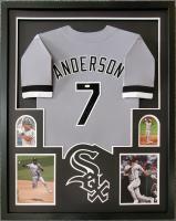 Tim Anderson Signed 34x42 Custom Framed Jersey (JSA COA) at PristineAuction.com