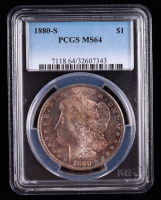1880-S Morgan Silver Dollar (PCGS MS64) (Toned) at PristineAuction.com