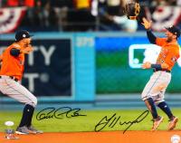 Jose Altuve & Carlos Correa Signed Astros 16x20 Photo (JSA COA) at PristineAuction.com