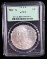 1881-S Morgan Silver Dollar (PCGS MS63) OGH at PristineAuction.com