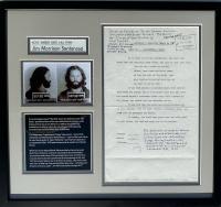 Jim Morrison 18x19.5 Custom Framed Court Document at PristineAuction.com