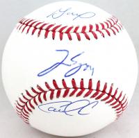 Jose Altuve, Carlos Correa & George Springer Signed OML Baseball (JSA COA) at PristineAuction.com
