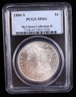 1880-S Morgan Silver Dollar - McClaren Collection II (PCGS MS61) at PristineAuction.com