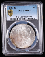 1884-O Morgan Silver Dollar (PCGS MS63) (Toned) at PristineAuction.com