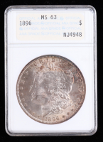 1896 Morgan Silver Dollar (ANACS MS63) (Toned) at PristineAuction.com