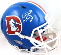 Peyton Manning Signed Broncos Full Size Authentic On-Field Speed Helmet (Fanatics Hologram) at PristineAuction.com
