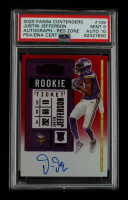 Justin Jefferson 2020 Panini Contenders Red Zone #109A Autograph (PSA 9) at PristineAuction.com