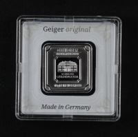 10 gram Geiger Mint Silver Square at PristineAuction.com