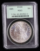 1885 Morgan Silver Dollar (PCGS MS63) OGH (Toned) at PristineAuction.com