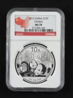2013 China 10 Yen Silver Panda (NGC MS70) at PristineAuction.com