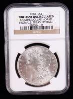 1887 Morgan Silver Dollar - Olathe Dollar Hoard (NGC Brilliant Uncirculated) at PristineAuction.com
