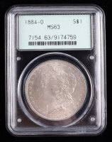1884-O Morgan Silver Dollar (PCGS MS63) OGH at PristineAuction.com