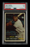 Willie Mays 1957 Topps #10 (PSA 1) at PristineAuction.com