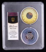 1842 Seated Liberty Silver Dime - S.S. Central America Shipwreck, with California Gold Dust - Bob Evans Signed Label (PCGS F12) at PristineAuction.com