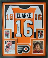Bobby Clarke Signed 34x42 Custom Framed Jersey Display (JSA COA) at PristineAuction.com