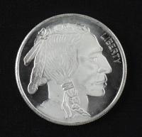 Buffalo Round 1oz .999 Silver Coin at PristineAuction.com