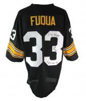 "John ""Frenchy"" Fuqua Signed Jersey Inscribed ""I'll Never Tell"" & ""SB IX X"" (JSA COA) at PristineAuction.com"