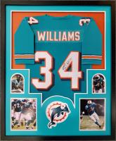 Ricky Williams Signed 34x42 Custom Framed Jersey Display (JSA COA) at PristineAuction.com