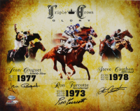 "Ron Turcotte, Steve Cauthen & Jean Cruguet Signed ""Triple Crown Glory"" 11x14 Photo (Schulte Sports Hologram) at PristineAuction.com"