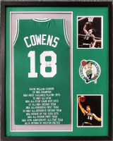 Dave Cowens Signed 34x42 Custom Framed Jersey Display (JSA COA) at PristineAuction.com