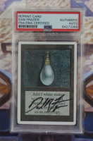 """Dan Frazier Signed 15x18 Custom Framed Magic: The Gathering """"Mox Pearl"""" Mockup Card Display (PSA Encapsulated) at PristineAuction.com"""