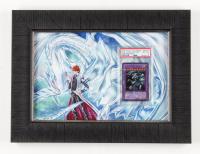 Blue-Eyes Ultimate Dragon #JMP-005 LE 12x16 Custom Framed Yu-Gi-Oh! Card Display (PSA 8) at PristineAuction.com