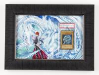 Blue-Eyes White Dragon #SDK-001 Unlimited 12x16 Custom Framed Yu-Gi-Oh! Card Display (PSA 6) at PristineAuction.com