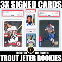 Mystery Ink 3X Signed Baseball Cards Mystery Box – JETER and TROUT Edition at PristineAuction.com