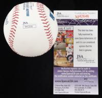 "Chris Christie Signed OML Baseball Inscribed ""NJ"" (JSA COA) at PristineAuction.com"