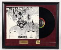 """The Beatles """"Revolver"""" 18x22 Custom Framed Vintage Vinyl Album Display with Release Pin at PristineAuction.com"""