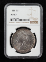 1881-S Morgan Silver Dollar (NGC MS63) (Toned) at PristineAuction.com