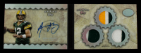 Aaron Rodgers 2012 Topps Five Star Veteran Autographed Triple Jersey Rainbow #FSSBAR #5/5 at PristineAuction.com