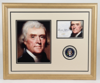 Thomas Jefferson 18x22 Custom Framed Display with (1) Hand-Written Word From Letter (JSA LOA) at PristineAuction.com