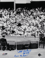 """Dick Fosbury Signed Team USA 11x14 Photo Inscribed """"68 Gold"""" & """"Raise The Bar!"""" (Beckett COA) at PristineAuction.com"""
