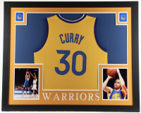 Stephen Curry 35x43 Custom Framed Jersey Display at PristineAuction.com